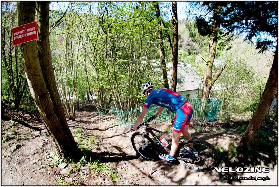 Privéterrein, maar voor mountainbikers werd vaak een uitzondering gemaakt