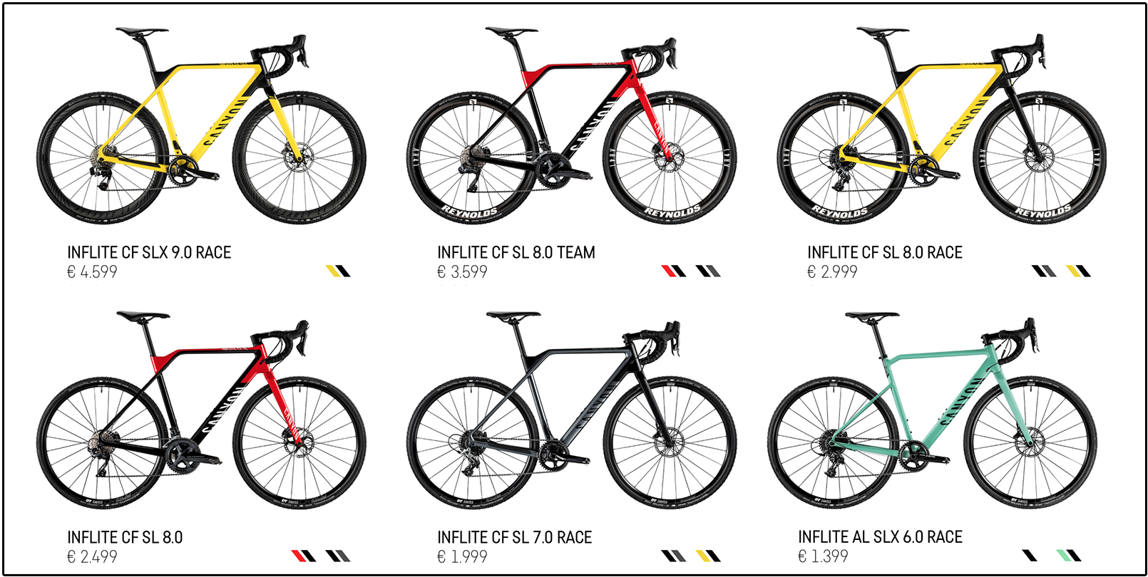 Canyon Inflite cyclocross programma uitgebreid   Velozine