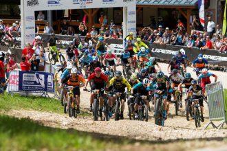 Een officieel UCI Wereldkampioenschap E-MTB