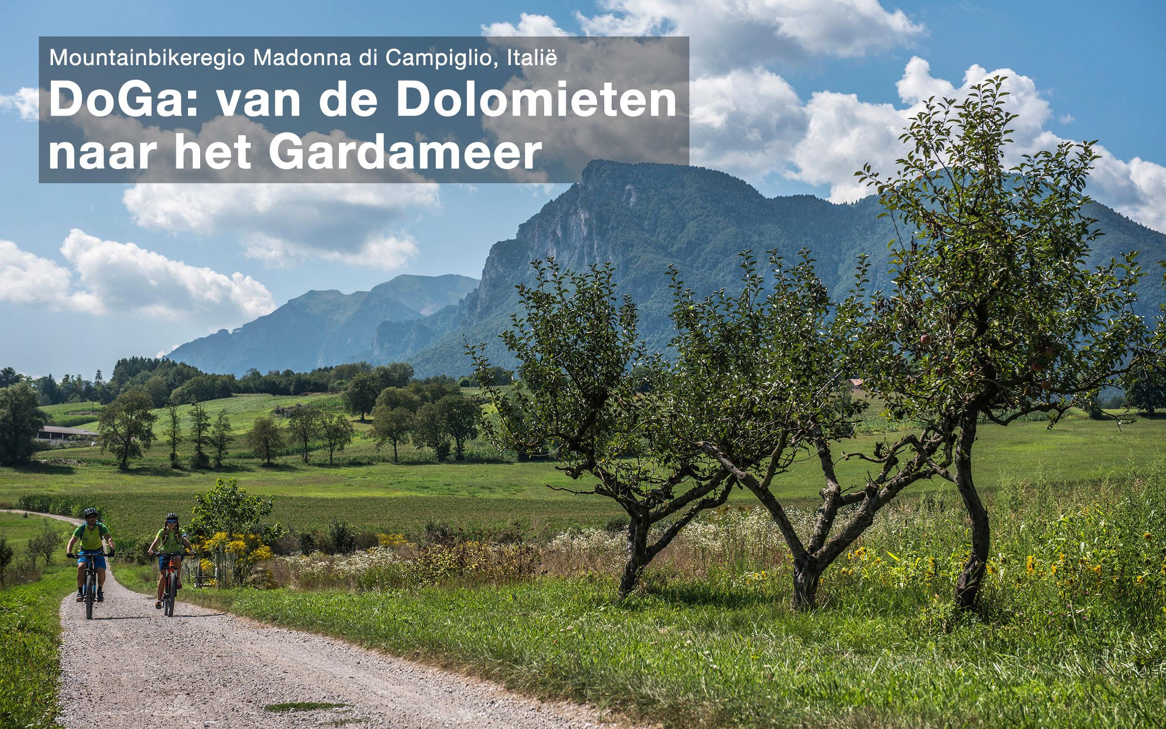 Gravelroute en mountainbikeroute van Madonna di Campiglio naar Riva del Garda, Italië