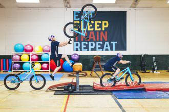 Danny MacAskill goes to the gym...