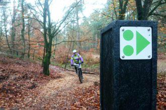 Veluwezoom: Bekeuring voor mountainbikers die buiten de route rijden