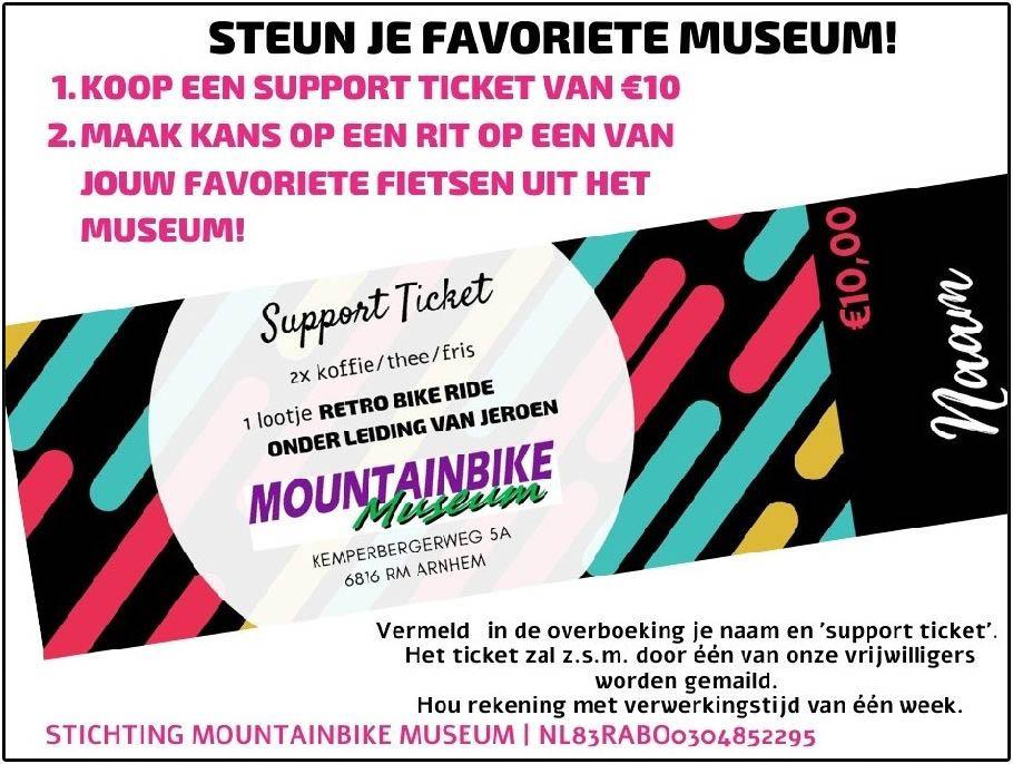 Advertentie van Loterij voor het mountainbikemuseum
