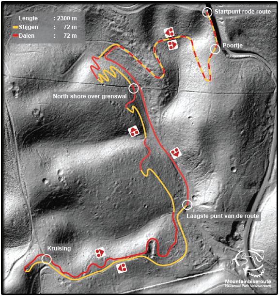 Veluwezoom Niner Shooting Mountain Trail kaart