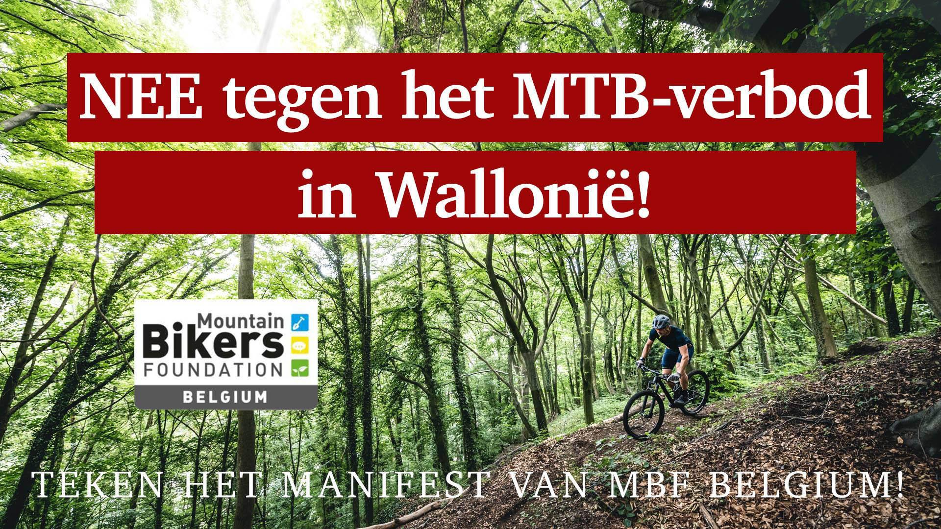 MBF Mountainbike verbod Wallonië