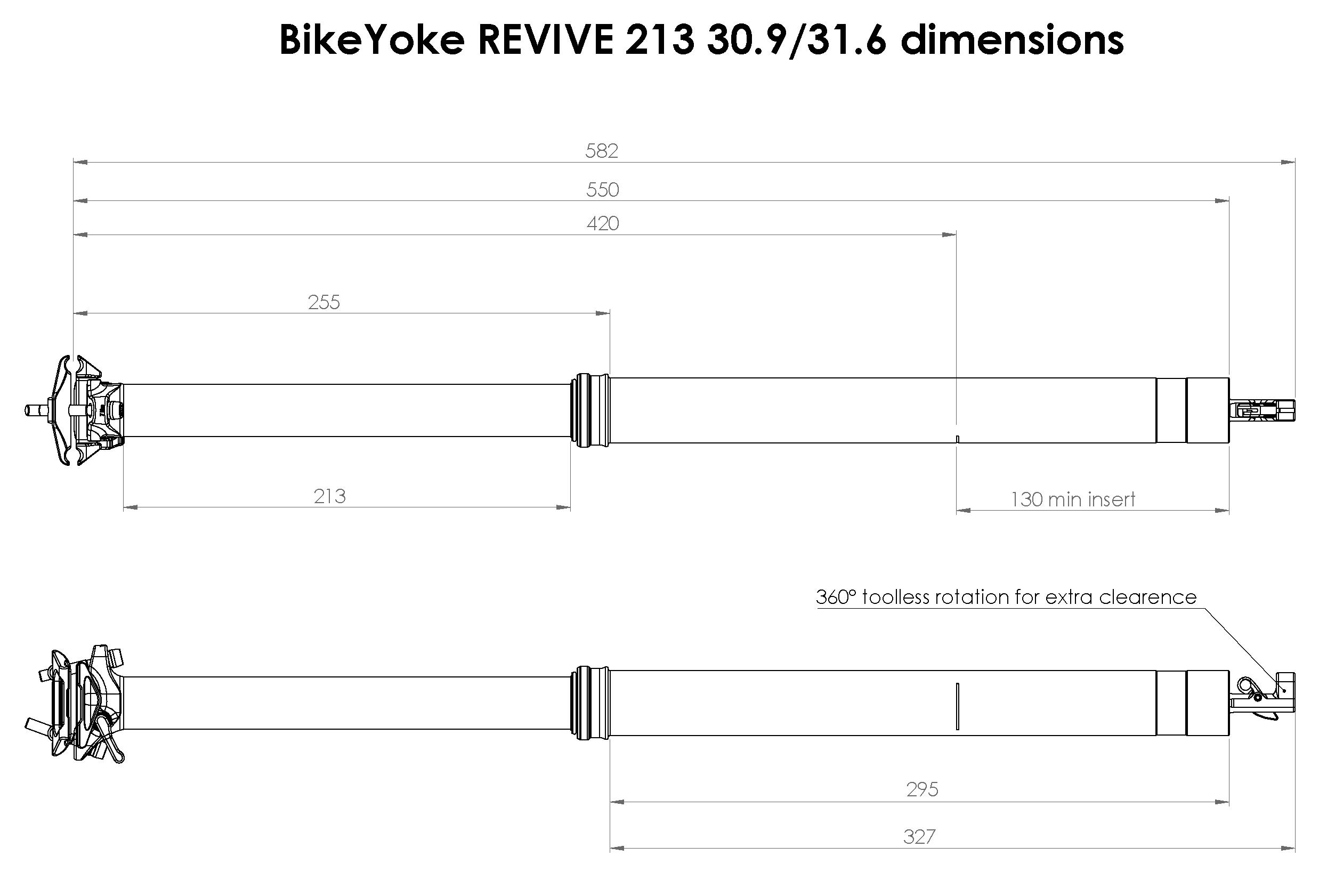 BikeYoke Revive 213 mm