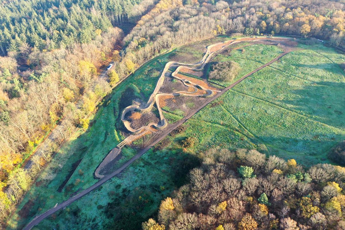 Bikepark Mook aerial overview