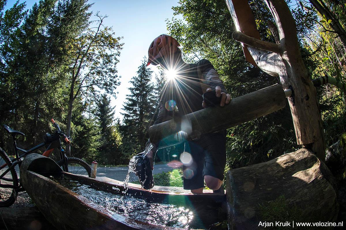 Vers bronwater op de Fichtelberg.