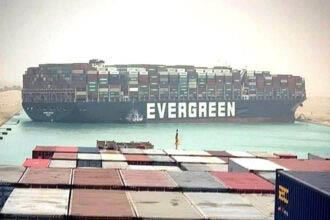 Containerschip klem in Suezkanaal: nu nóg langer wachten op je fietsonderdelen