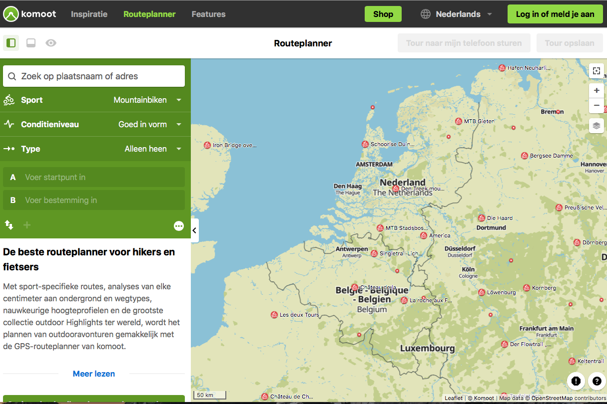 Screenshot Komoot 2021