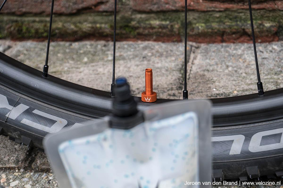 Peatys ventiel en pouch passen op elkaar