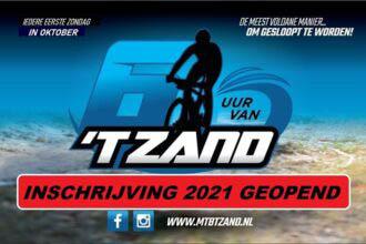 Zondag 3 oktober 2021: mountainbikewedstrijd '6 uur van 't Zand'