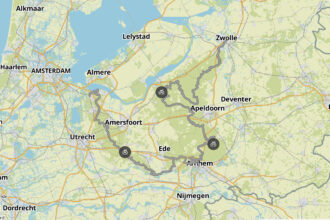 Komoot Green Divide gravelroute: 300 km groen Nederland