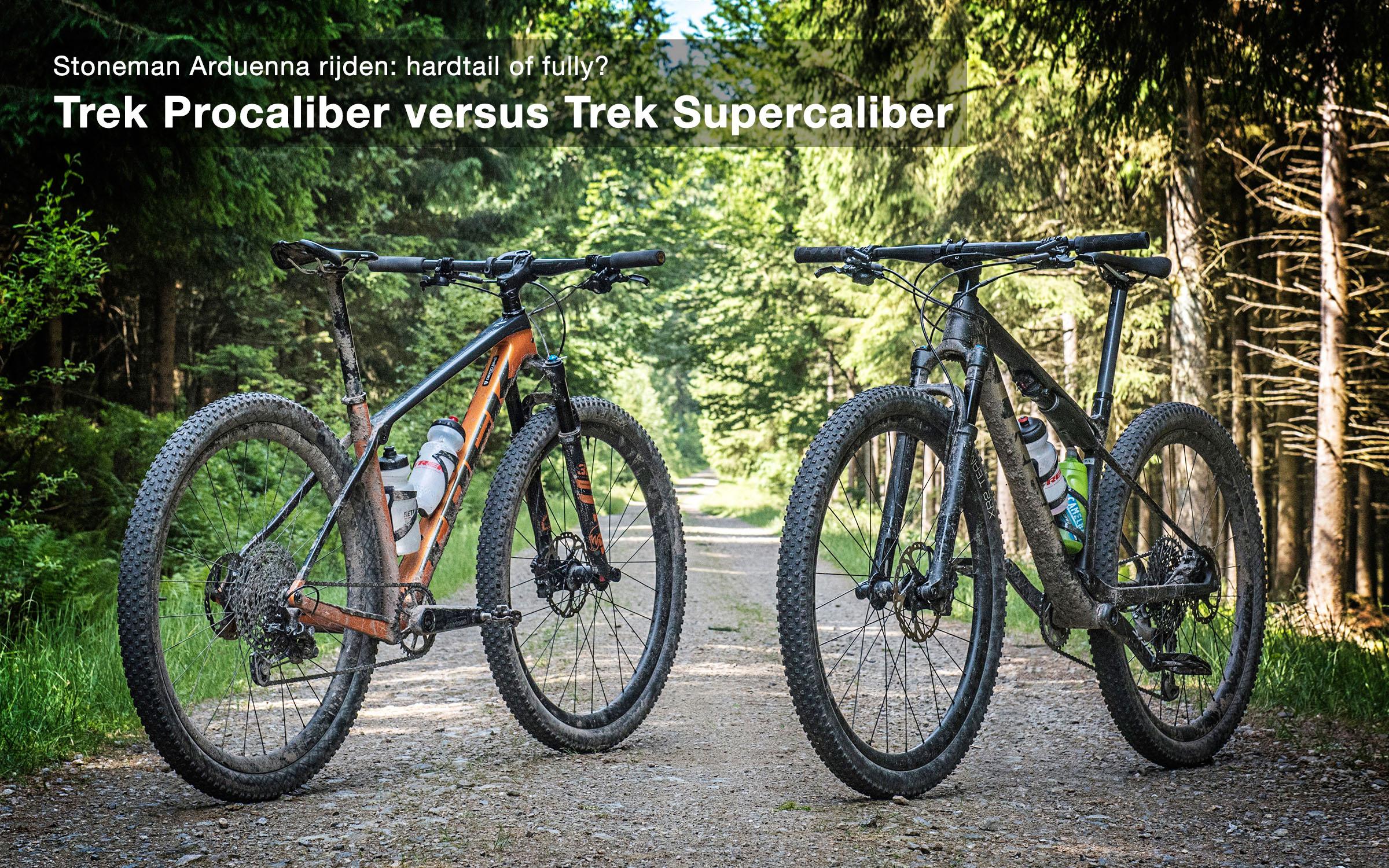 Test Trek Procaliber en Supercaliber, welke bike werkt het beste voor de Stoneman Arduenna?